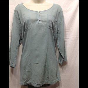 Women's size Large EDDIE BAUER thin linen shirt